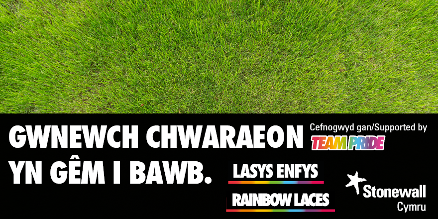 FAW support the Stonewall Rainbow Laces campaign.