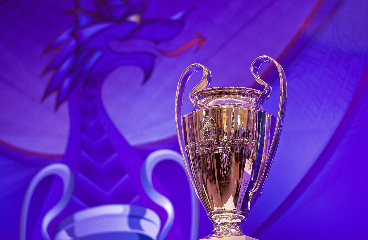 UEFA Champions League Trophy On Public Display In North Wales