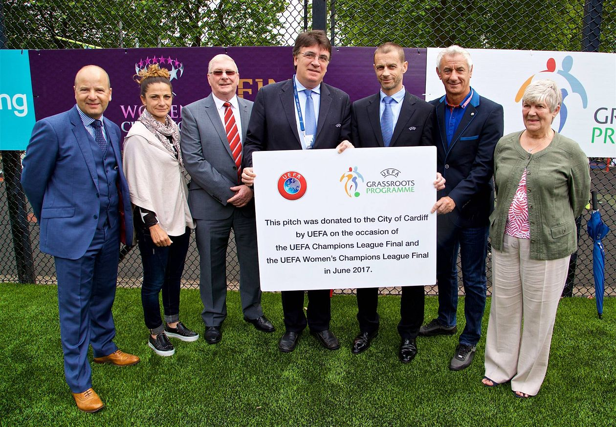 UEFA donate maxi-pitch to Cardiff Community