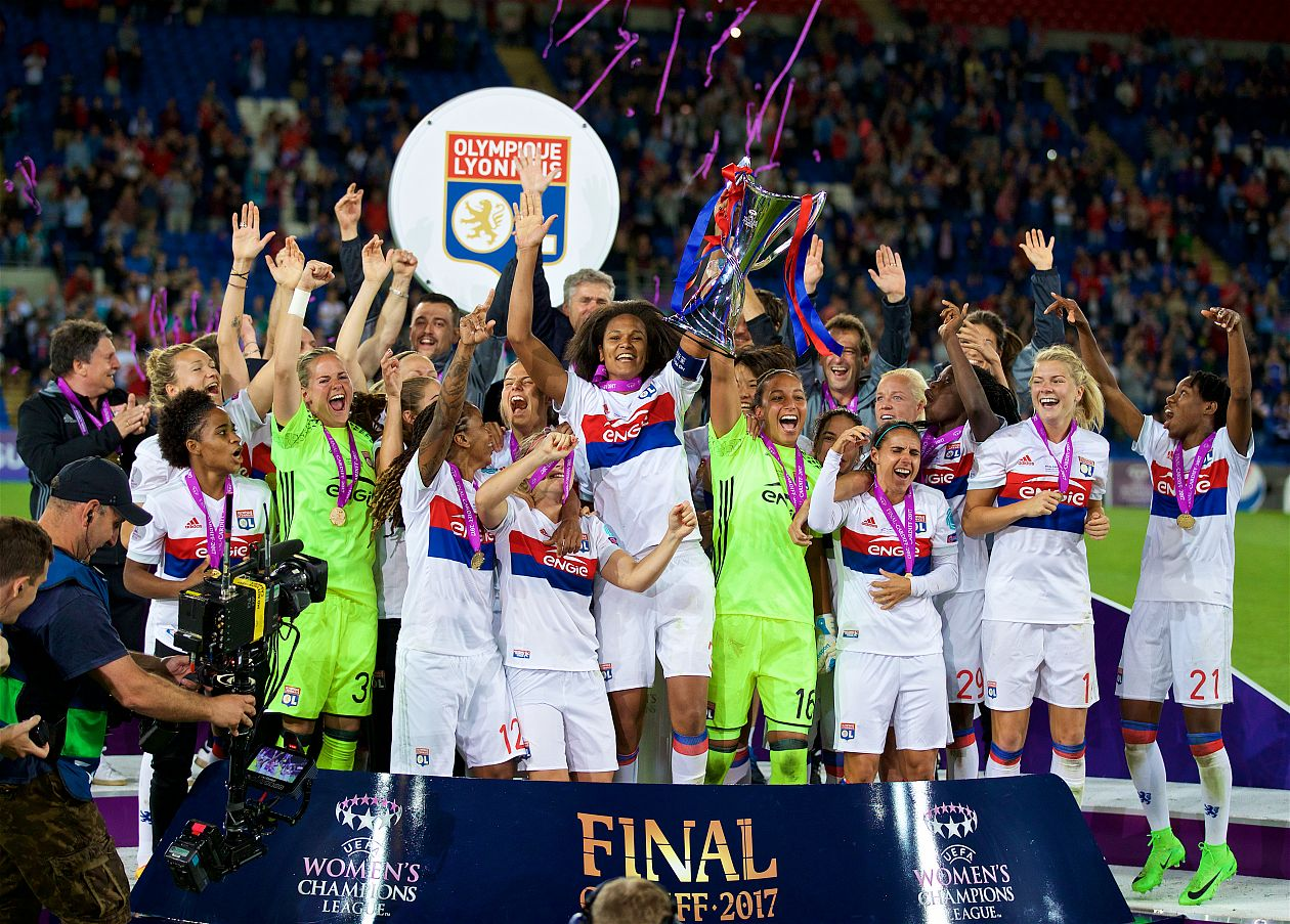 Olympique Lyonnais lift UWCL trophy in Cardiff Final
