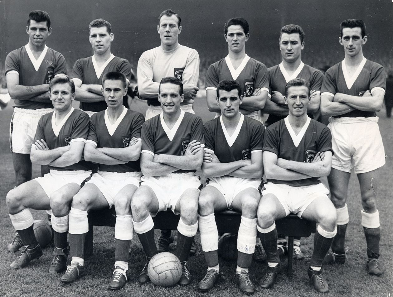 Colin Baker (Back row, second from the left). Wales National Team, November 1960