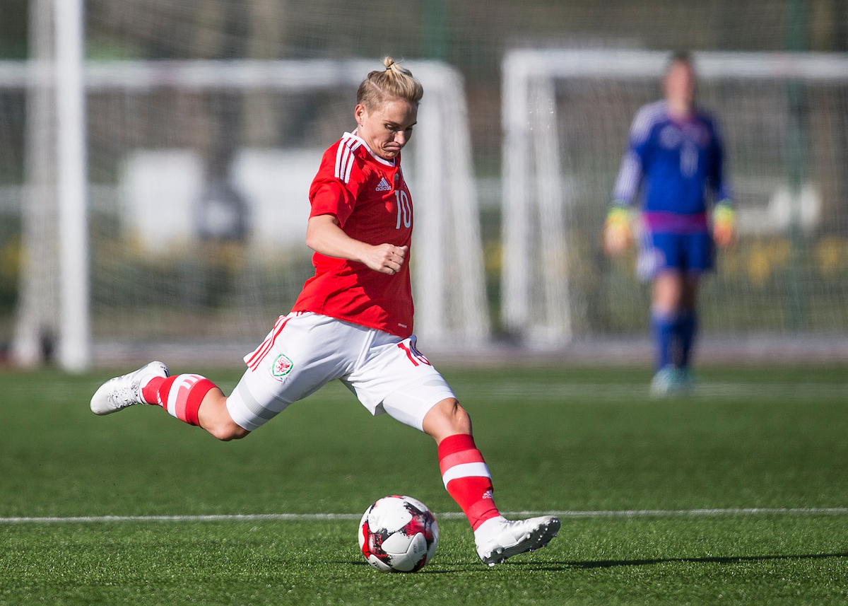 Victory and a goal for Fishlock on appearance 100